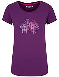 Mountain Warehouse Forest Trees Womens T-Shirt 100% Cotton With Easy Care & Great Quality Print - Ideal For Everyday Wear In Hotter Temperatures