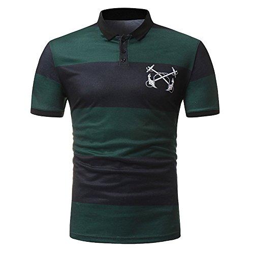 CICIYONER Poloshirt Sommer Herren Party T-Shirt Print Hemd Cotton Polohemd M L XL XXL XXXL
