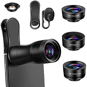 Treppiede SJSXTLLL Telephoto Len 50X60 Zoom ottico HD Lens Telescopio monoculare con visione notturna Clip per Smart Phone Lente per cellulare