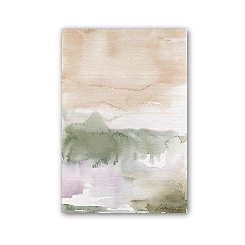 Cuadriman Liendo Mediano Cuadro, Madera, Ocre y Verde, 90 x 60 cm
