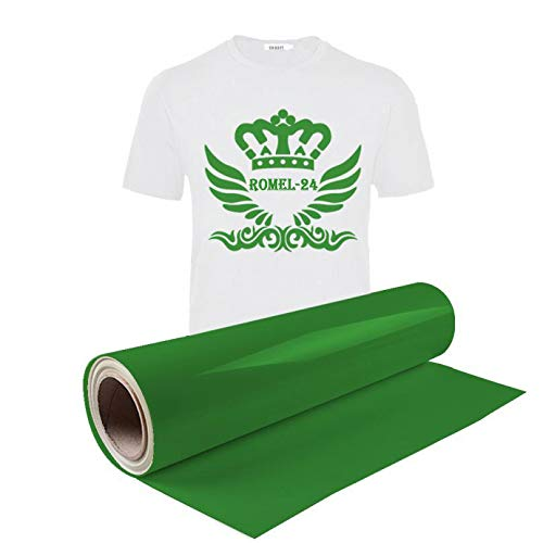 [19,98€/ m²] 0,5x1m Textilfolie Transferfolie Bügelfolie T-Shirt Folie Flexfolie Plotter Grün