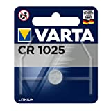 Varta Batterien Electronics CR1025 Lithium Knopfzelle 3V Batterie in Original 1er Blisterverpackung