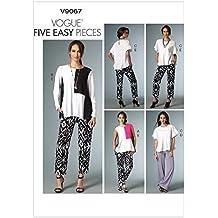 Vogue V9067 costura para confeccionar blusas, trajes, vestidos, moda, VGE 9067 Y