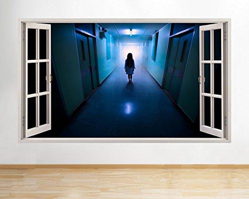 tekkdesigns A126Gejagt Krankenhaus Gothic Halloween Wand Aufkleber 3D Poster Art Aufkleber Vinyl RO Kids Schlafzimmer Baby Kinderzimmer Cool Wohnzimmer Hall Jungen Mädchen (Riesige (100x 175cm))