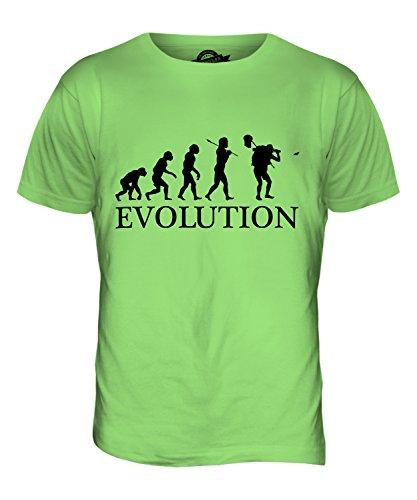 CandyMix Schmetterling Fangen Insektensammlung Evolution Des Menschen Herren T Shirt Limettengrün