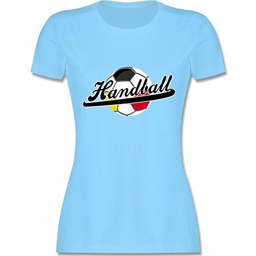 Handball WM 2019 - Handball Deutschland - XXL - Hellblau - L191 - Damen Tshirt und Frauen T-Shirt