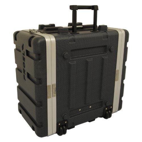 Proel Force Series 6u ABS Rack Case mit ausziehbarem Griff und Rollen