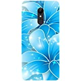 Gismo 3D Blue Flower Printed Designer Printed TPU Soft Silicon Flexible Case Cover For Xiaomi Redmi 5 (Only For REDMI 5)