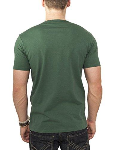 Urban Classics TB814 Herren T-Shirt Fitted Stretch Tee Grün (forest 615)