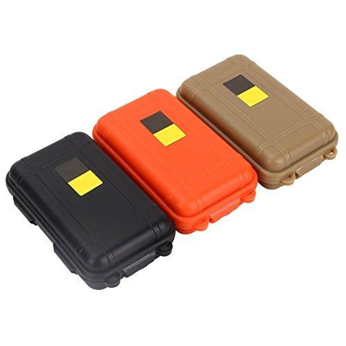 3pcs Survival Box Container Aufbewahrungsbox Kunststoff Behälter Carry Case für Outdoor Survival Camping oder Wandern 3 Farben sortiert Small (115x75x35mm)