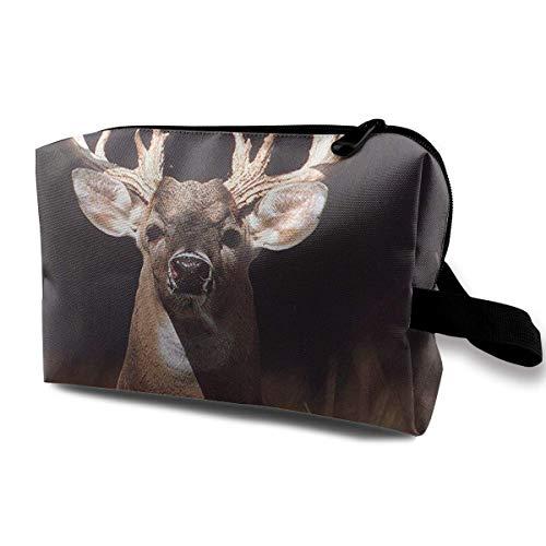 Trophy Buck Deer mit Big Rack Multifunktionskoffer Kulturbeutel Reisemake-up Kosmetiktaschen Buck Oxford
