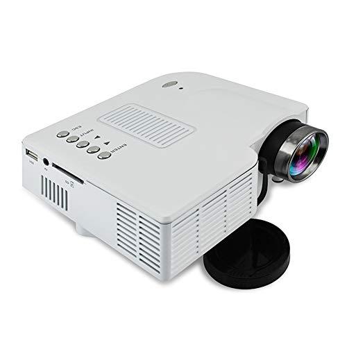 WBaRJ Projektor, Videoprojektor, Mini-Projektor-Handprojektor für den Heimgebrauch für Heimunterhaltung, Party und Spiele,White