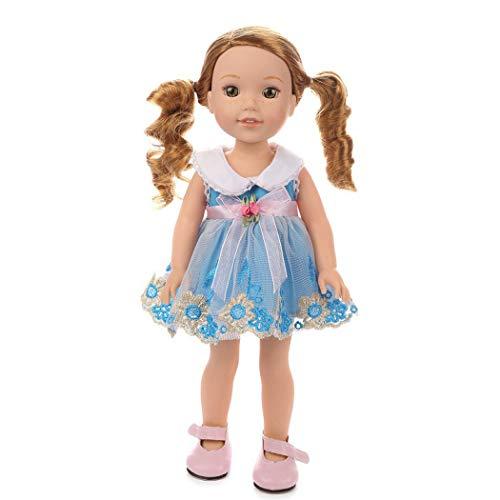 Zolimx Puppen Zubehör Kleid, 18-Zoll Amerikanisches Puppe Tutu Rock Prinzessin Kleid Puppenbekleidung