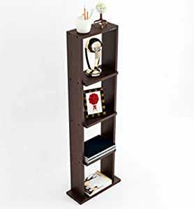 Anikaa Aspire Engineered Wood Corner Shelf/Corner Shelves/Racks and Shelves/Book Shelf/Floor Standing Shelves/Display Rack for Home Decor Living Room (Wenge)