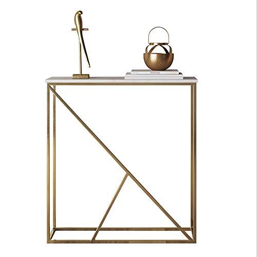 NAN Marmor-Konsole, Wohnzimmer Schmaler Beistelltisch, Flur Eingang Tisch, Sofa zurück, Flur Möbel, Gold -