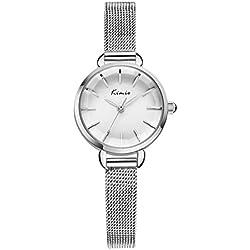 watch steel chain/ ladies fashion watch/Fashion metal chain strap quartz watch-white