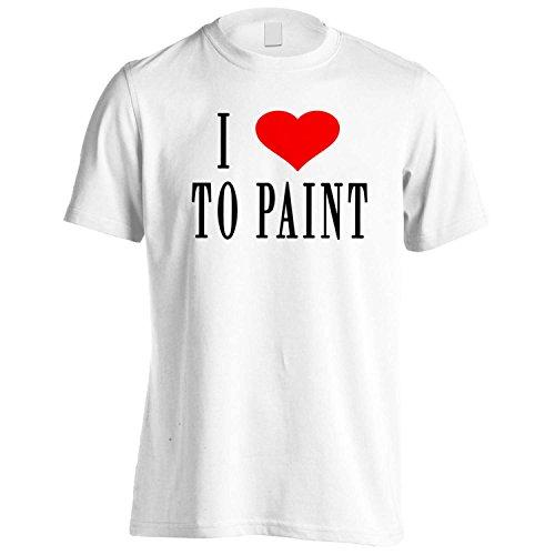 I Love To dipingere novità divertente Nuovo Uomo T-shirt h66m White