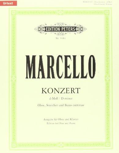 Oboenkonzert d-Moll für Oboe u. Klavier, Urtext (Fechner): Für Oboe, Streicher und Basso Continuo