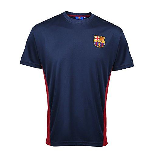 FC Barcelona Oficial Adultos Camiseta Performance - Azul Marino, XX-Large - Oficial FC Barcelona mercancía - Drenaje de polietileno tela para mantener usted cool - Ideal para estampado - Pecho (para - pins) S - 40, M - 42, L - 44, XL - 46, XXL - 48/5...