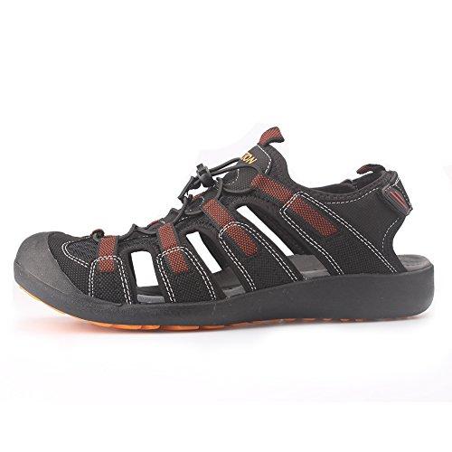 GRITION männer outdoor - sandalen größe sport wandern sandalen schnell trocken. toecap sommer schuhe orange / schwarz. Orange