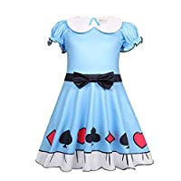 ALAMing Girls Cosplay Costume Kids Lady Bug Girl Fancy Party Full Body Jumpsuit Clothes 2-9 Years (style01, 7-8Years)