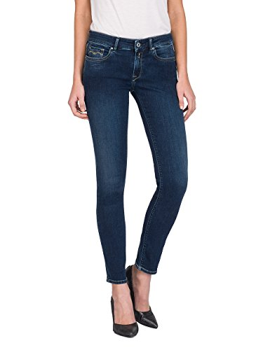 Replay Damen Skinny Jeans LUZ, Blau (Dark Blue Denim 9), W28/L30