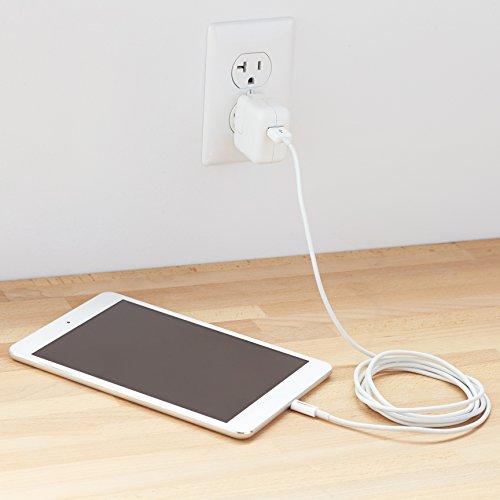 AmazonBasics Ladekabel Lightning auf USB, 1,8m, zertifiziert von Apple, Weiß - 5