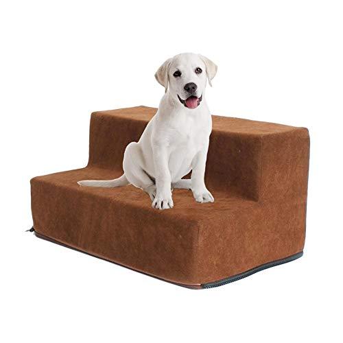 Maliyaw Pasos extraíbles para escaleras de Mascotas Escalera para Perros de 2 Pisos, escaleras de Escalera de Confort de Terciopelo de Ciervo para Gatos y Perros