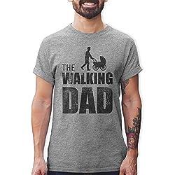 Shirtracer Camisetas Hombre The Walking Dad Regalo de cumpleaños para el Padre (Gris, XL)