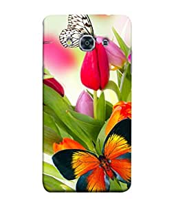 PrintVisa Designer Back Case Cover for Samsung Galaxy J3 Pro :: Samsung Galaxy J3 (2017) (Girly Fancy Meaningful Picture of butterfly)