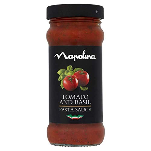 Napolina Tomato and Basil Sauce, 350 g, Pack of 6