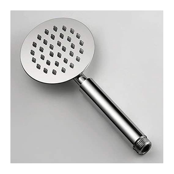 Pesca R/N Oval Shaped 9 Long Handheld Shower Ultra Slim with Chrome Finish Stainless Steel Rain Spray Hand Shower ...