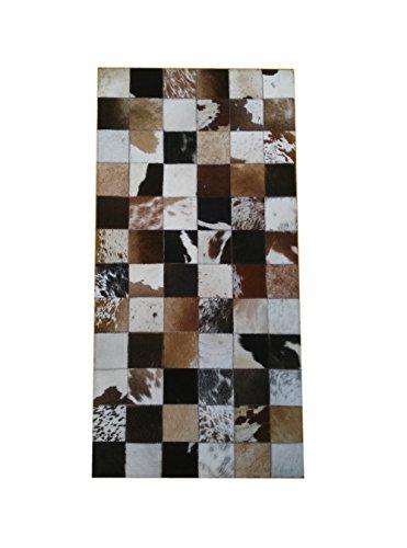Kuhfell-teppich-Patchwork-stil-Manahmen60x120-cms-Handwerklicher-qualitt-leder-perfekt-fr-jeden-wohnraum
