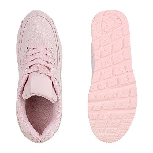 Damen Herren Unisex Sportschuhe Neon Runners Laufschuhe Sneakers Rosa Stoff