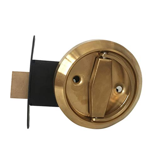 CHOULI Unsichtbares Türschloss Doppelseitiges Schloss Versteckter Türgriff Dark Lock Ball Lock -Gold -