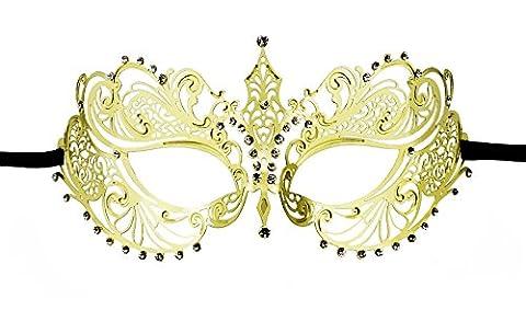 Costumes De Danse Rhinestone Designs - Masque vénitien Mascarade Masque en métal découpé