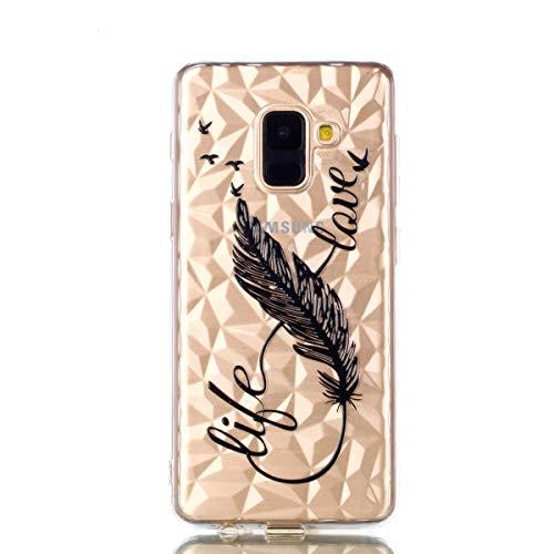 Cozy Hut Samsung Galaxy A6 2018 handyhülle, Ultra Dünn Schutzhülle Samsung Galaxy A6 2018 Bumper Case Soft TPU Case Anti Rutsch Silikon Hülle für Samsung Galaxy A6 2018-8 Wörter Federn