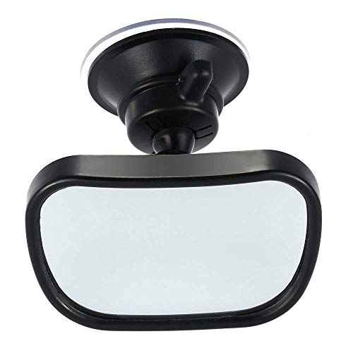 KIMISS 24.8 7cm Car Front Windshield Rearview Mirror with Suction Cup Mount Interior Accessory