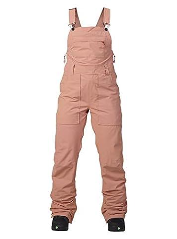 Burton Damen Avalon Bib Pants Snowboardhose, Dusty Rose Washed, XS