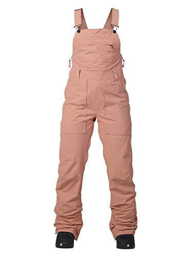 Burton Damen Avalon Bib Pants Snowboardhose, Dusty Rose Washed, L