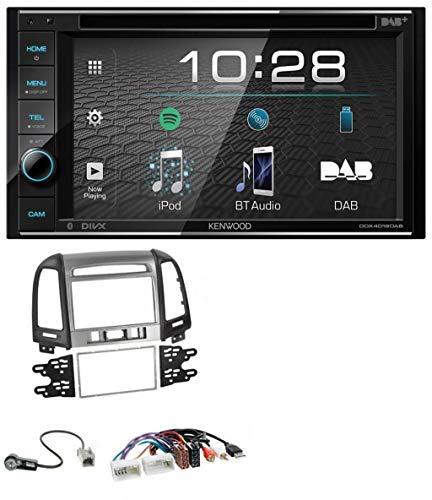 caraudio24 Kenwood DDX4019DAB USB DVD DAB MP3 Bluetooth 2DIN Autoradio für Hyundai Santa Fe USB AUX 3 Schalter ab 11