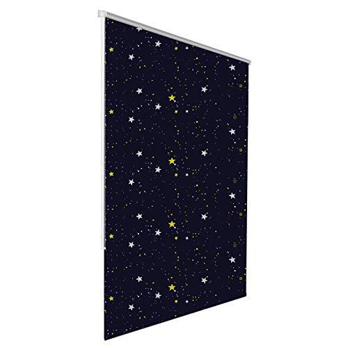 Julido Verdunkelungsrollo klemmfix ohne Bohren 90x150cm Sterne