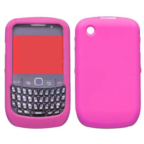 Hot Pink Silicone Gel Skin Protector Case BlackBerry Curve 8520 T-Mobile Pink Case Blackberry Curve