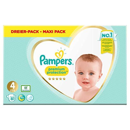 Pampers Premium Protection Größe 4, Windel x81, 9kg-14kg