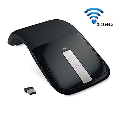 htfrgeds Hard Eva Travel Tasche Schutz Hülle für Microsoft Arc Touch Mouse Tragbare Stoßfest Mobile Maus Optische Mäuse Folding Maus 2,4 Ghz Arc Wireless Optische Maus mit USB Empfänger - Arc Schutz
