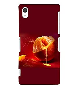 PRINTSWAG ORANGE Designer Back Cover Case for SONY XPERIA Z2
