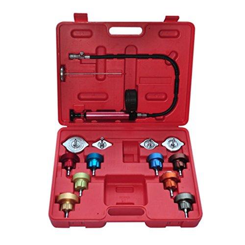 Festnight 14-teilig Kühlsystemtester Kühlsystem Tester Kühler 0-2,5 bar Werkzeugkasten