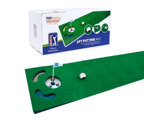 PGA Tour - Tappetino da allenamento da 183 cm con pallina guida e consigli per l'allenamento