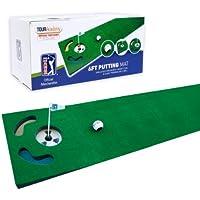 PGA Tour PGAT21 - Alfombra para putting con pelota marcada y consejos de entrenamiento (183 cm) de golf