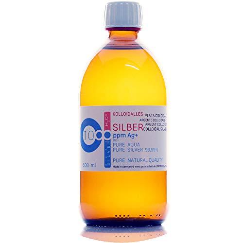 PureSilverH2O 500ml Kolloidales Silber (500ml / 10ppm) Reinheit & Qualität seit 2012 (Stellen Sie Kolloidales Silber)